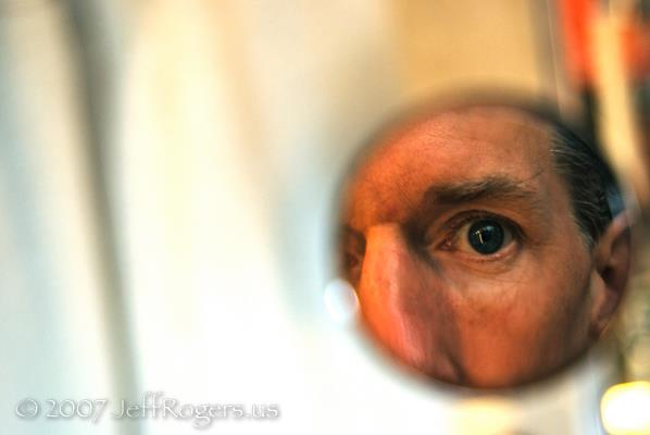 Jeff Rogers in mirror
